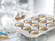 Usa Pan 1200Mf-2-Abc American Bakeware Classics 12 Cup Cupcake And Muffin Baking Pan Aluminized Steel