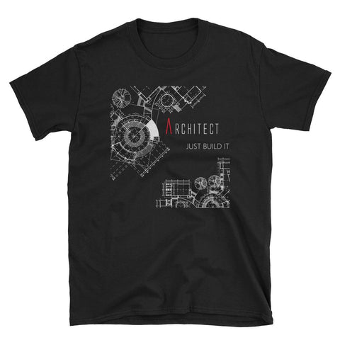 Men's Just Build It Black Graphic Tee