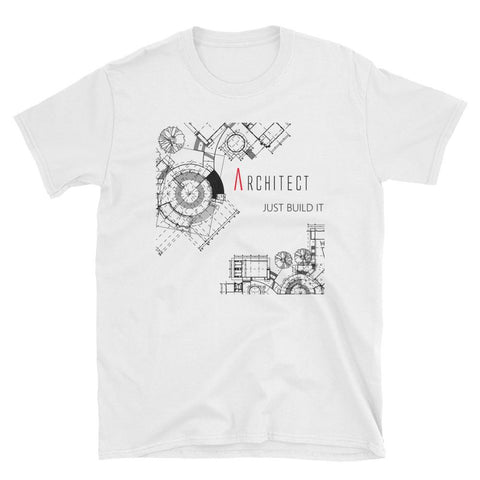 Men's Just Build It White Graphic Tee