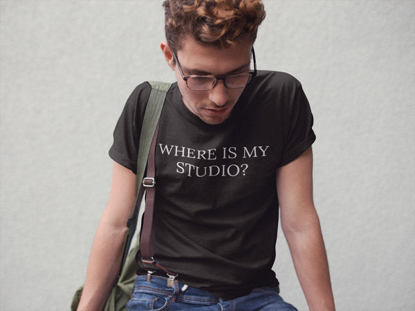 "Men's ""Where Is My Studio?"" Graphic Tee"
