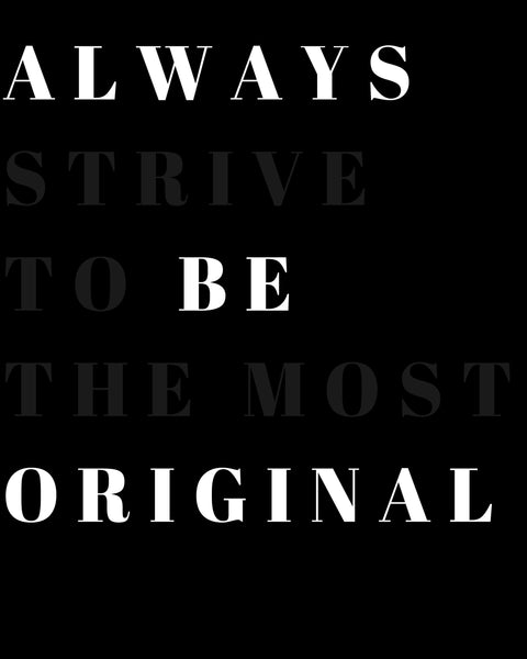 Women's Always Be Original Graphic Tee
