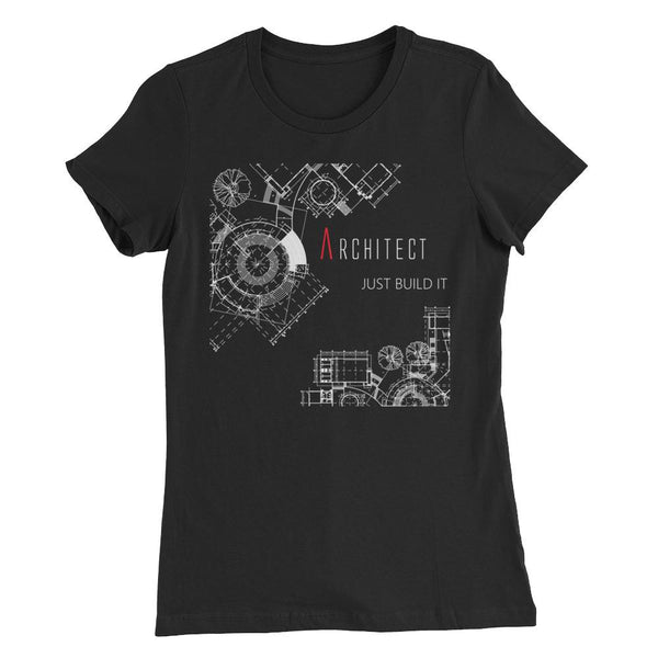 Women's Just Build It Black Graphic Tee