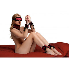 Bondage rouge dragon en satin