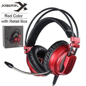 XIBERIA V10 PC Gamer Gaming Headset Casque with Microphone LED Lights Stereo Heavy Bass Game Headphones for Computer Game