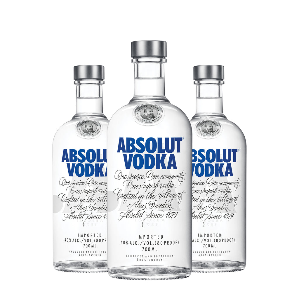Absolut Vodka Blue (Original) 700ml (Set of 3)