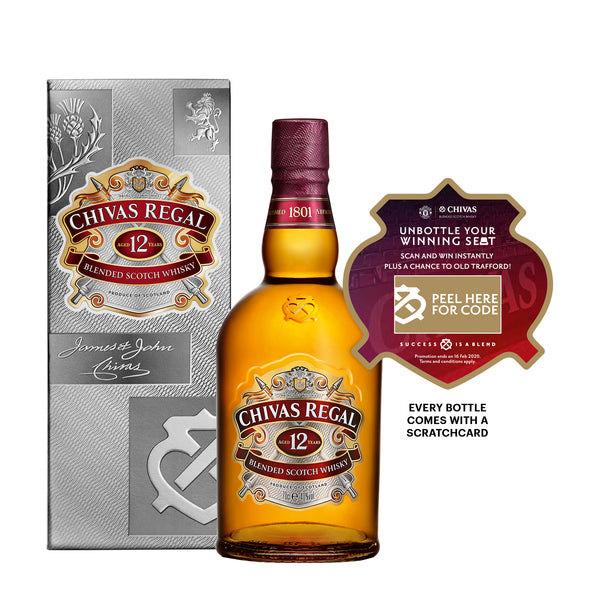 Unbottle Your Winning Seat: Chivas Regal 12yrs 700ml (Sticker with code)