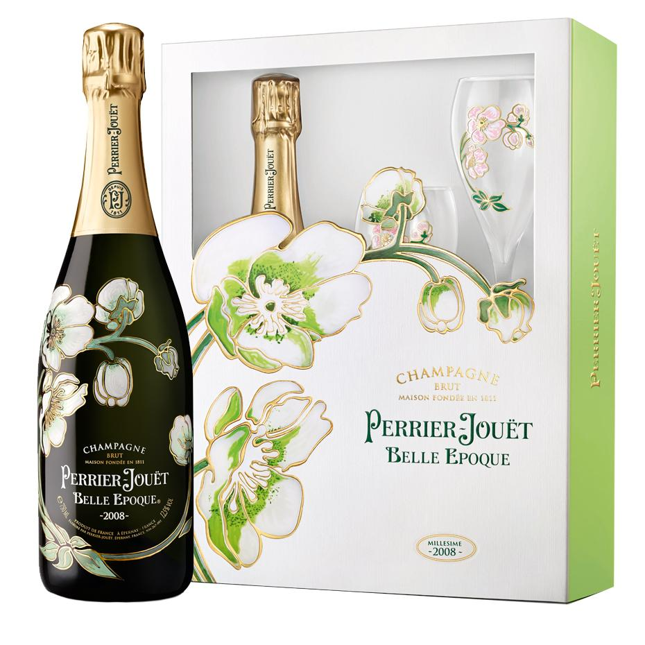 Perrier-Jouët Belle Epoque Blanc 08 Gift Set with 2 Flutes 750ml