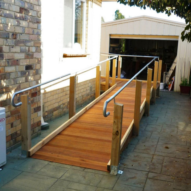 A mobility ramp home modification