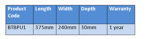 BTBPU1 slipper bed pan specifications
