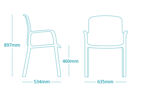 Florey Healthcare chair Specifications