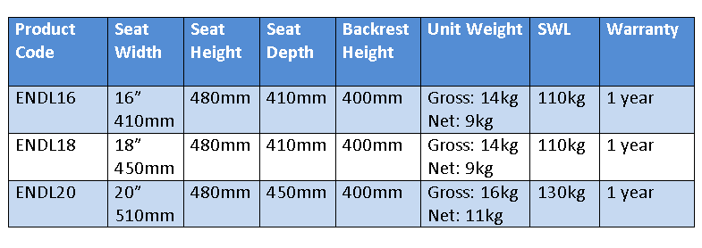 Typhoon self propelled wheelchair specifications