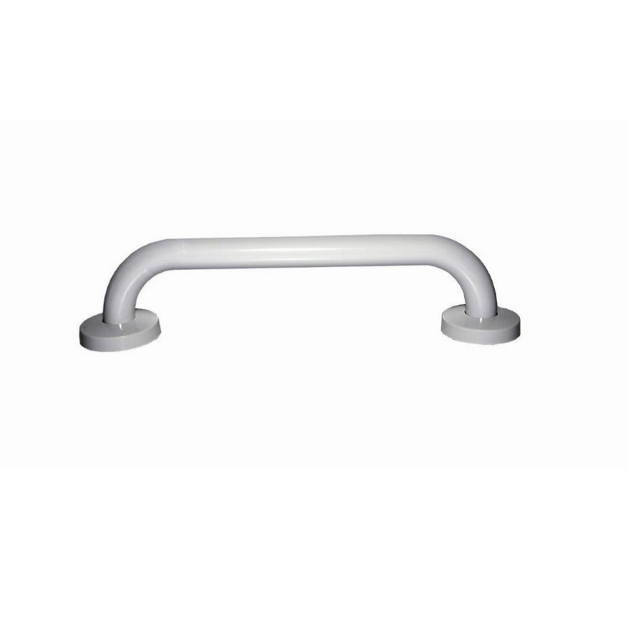 White Grab rail with Concealed Fixing- 25mm Diameter