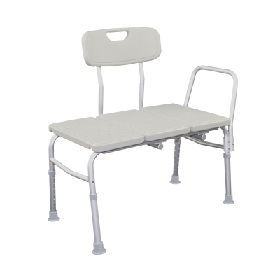 E115B Bariatric Transfer Bath Bench Side Angle