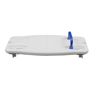E118H bath board with handle side view