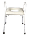 Over Toilet Frame with Padded Seat