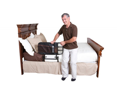 Adjustable and Fold Down Bed Side Rail