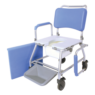 Mobile shower Commode removable arms