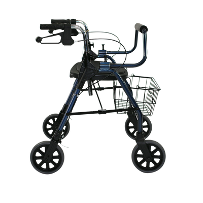 The Mighty Mack Bariatric Wheeled Walker and Rollator side angle