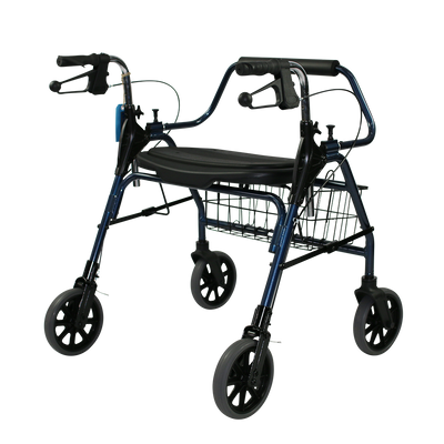 The Mighty Mack Bariatric Wheeled Walker and Rollator back angle