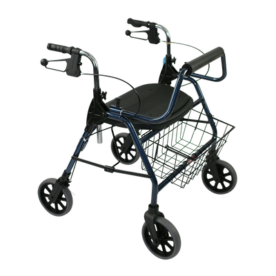 The Mighty Mack Bariatric Wheeled Walker and Rollator front angle
