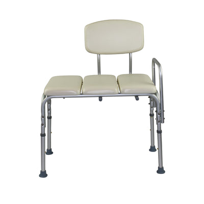 E115P Padded Transfer bench