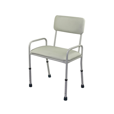 E137WBS Padded Seat Shower Stool with Backrest