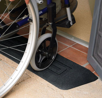 Raven Rubber Ramp wheelchair wheel