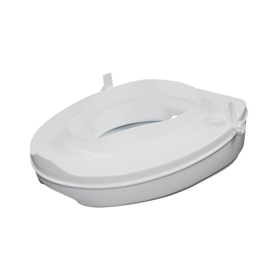 Sahara Toilet Seat Raiser with Lid- 100mm rise