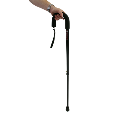 Crook handle Black Walking Stick