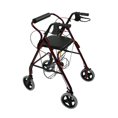 Oxygen tank holder for wheeled walker and rollator