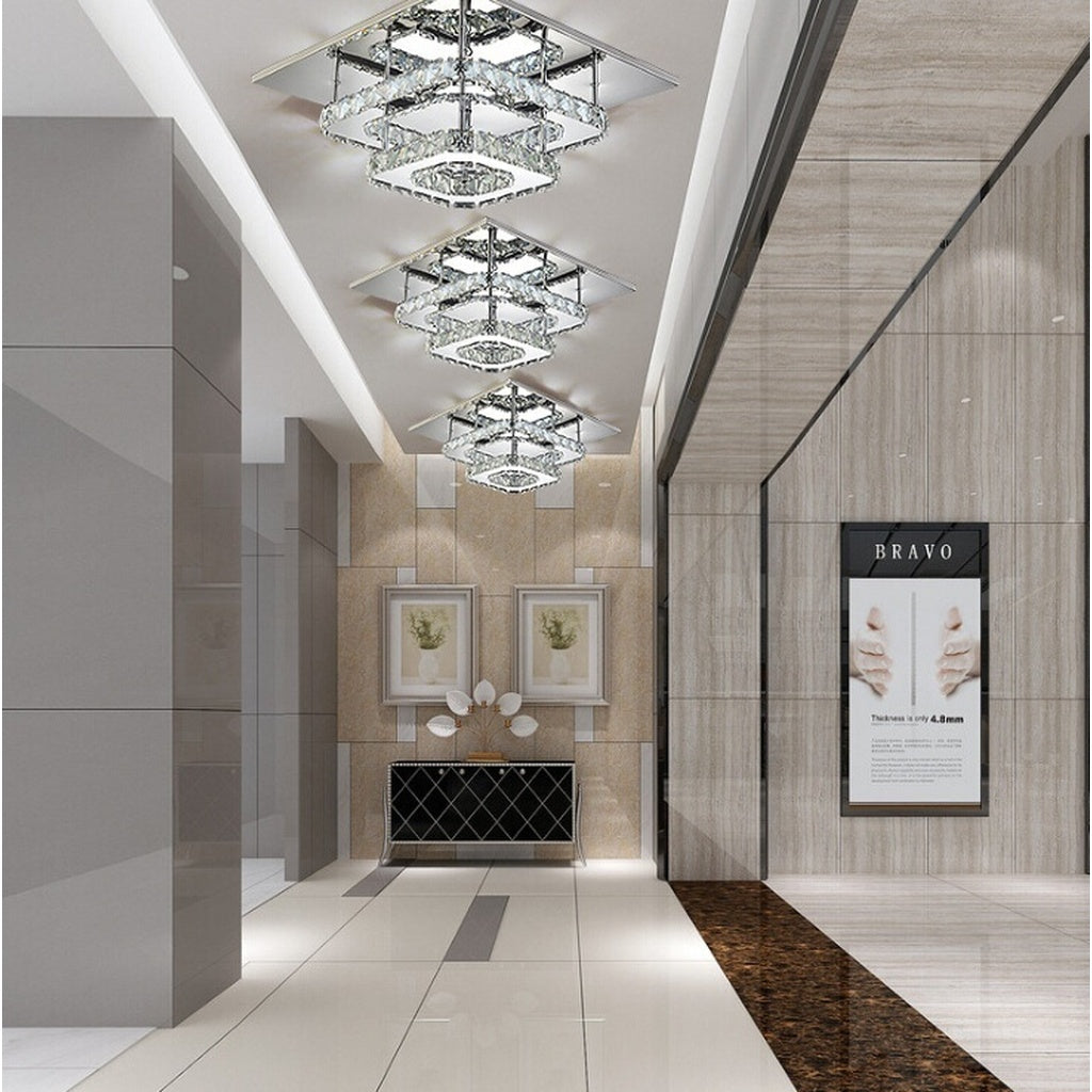 Square Crystal Ceiling Light