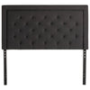 Rectangle Diamond Tufted Upholstered Headboard in Charcoal