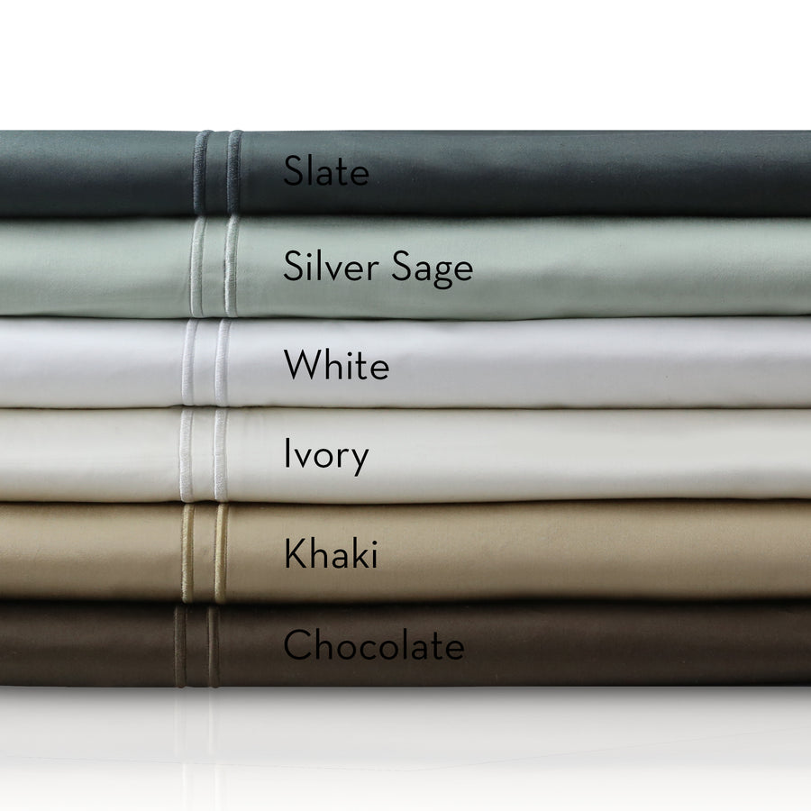 600 TC Egyptian Cotton Sheets in Silver Sage
