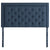 Rectangle Diamond Tufted Upholstered Headboard in Atlantic