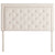 Rectangle Diamond Tufted Upholstered Headboard in Ivory