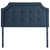 Scoop Square Tufted Upholstered Headboard in Atlantic