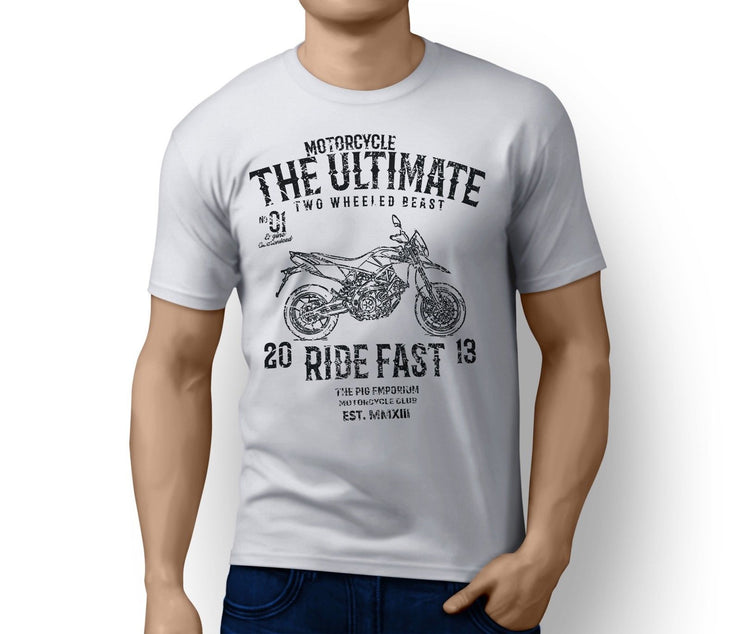 RH Ultimate Illustration for a Aprilia Dorsoduro 750 2009 Motorbike fan T-shirt