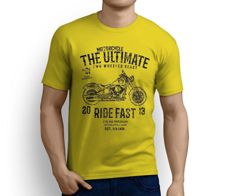 RH Ultimate Art Tee aimed at fans of Harley Davidson Softail Slim S Motorbike