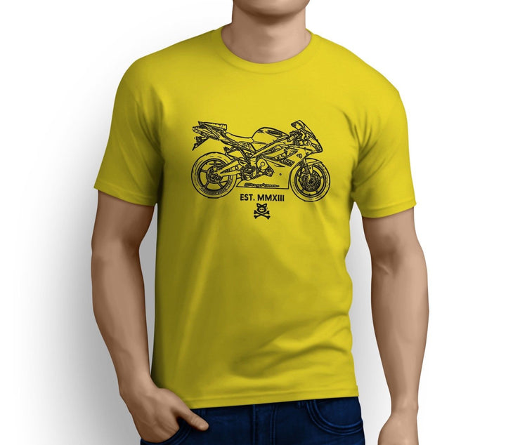 Road Hogs Art Tee aimed at fans of Triumph Daytona 675 2009 Motorbike