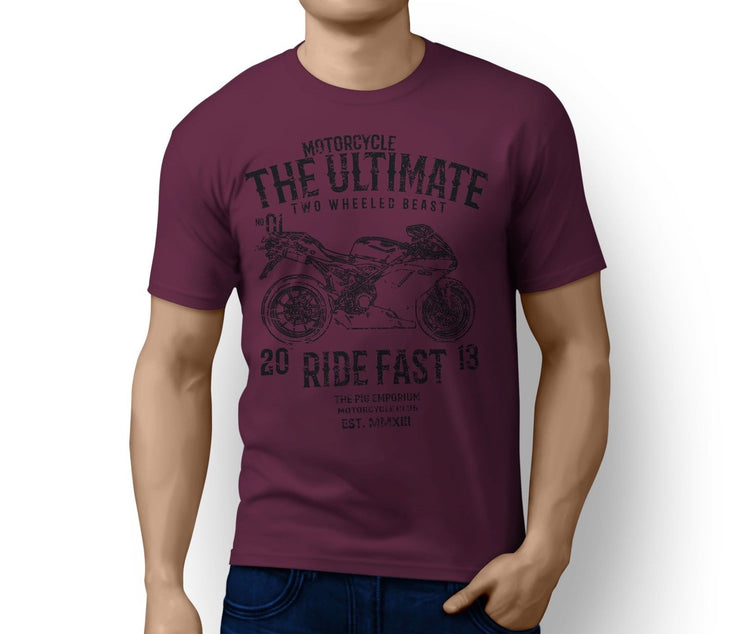 RH Ultimate Illustration For A Ducati 1198 2011 Motorbike Fan T-shirt