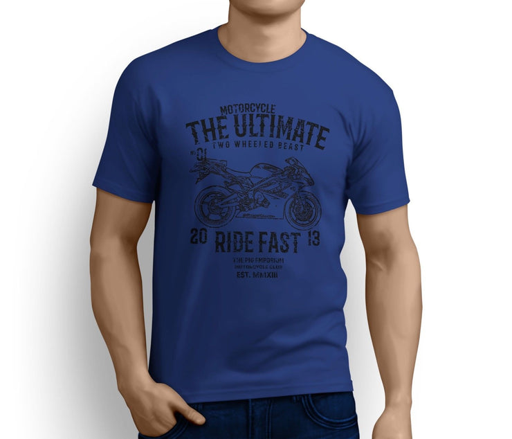 RH* Ultimate Art Tee aimed at fans of Triumph Daytona 675 2009 Motorbike