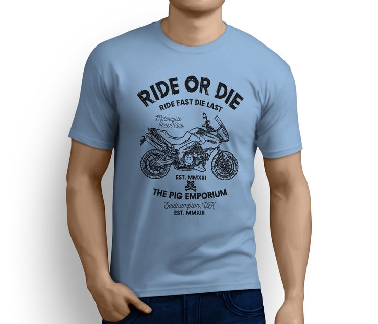 RH Ride Illustration For A Triumph Tiger Motorbike Fan T-shirt
