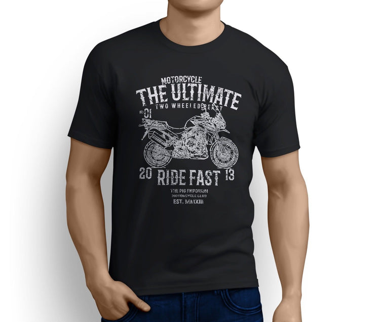 RH Ultimate Art Tee aimed at fans of Triumph Tiger Explorer Spoked Wheels Motorb