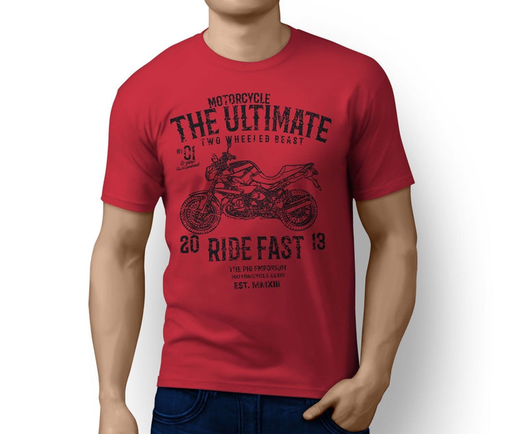 RH Ultimate Illustration For A BMW R1200R 2012 Motorbike Fan T-shirt