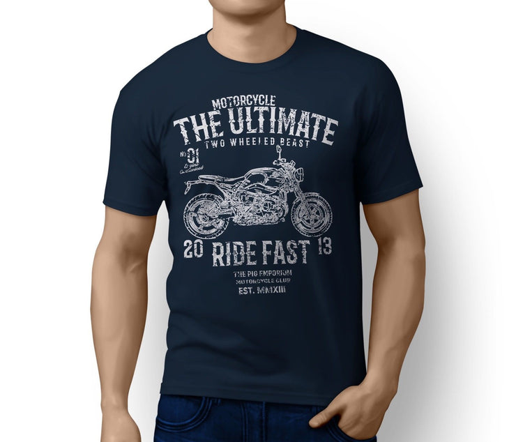 RH Ultimate Illustration For A BMW RNineT Pure Motorbike Fan T-shirt