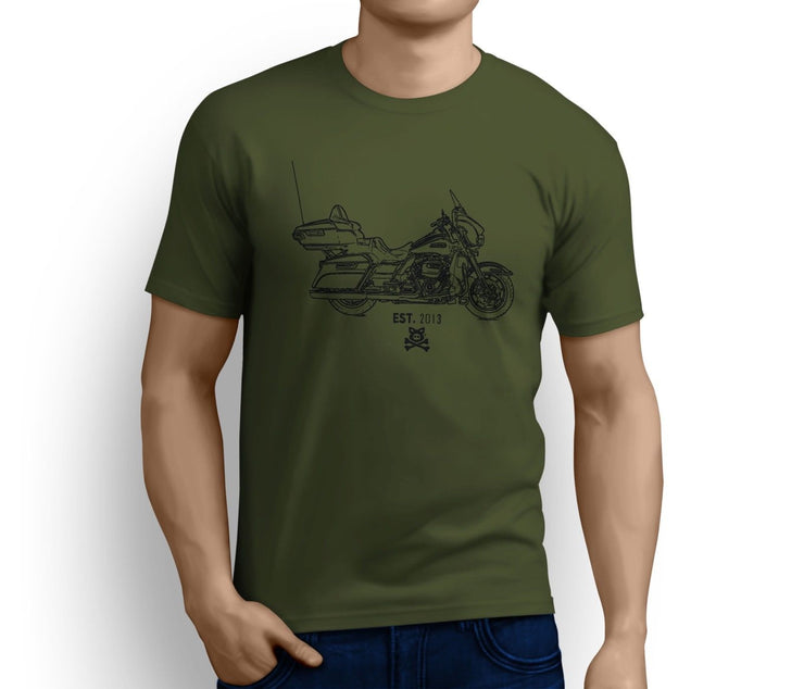 Road Hogs Art Tee aimed at fans of Harley Davidson Electra Glide Ultra Classic Motorbike