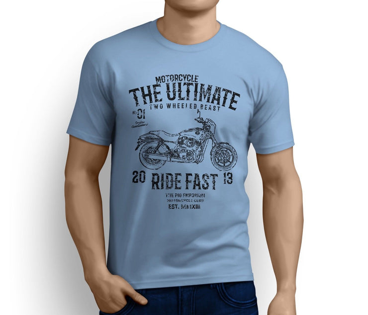 RH Ultimate Art Tee aimed at fans of Harley Davidson Street 500 Motorbike
