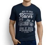 RH King Art Tee aimed at fans of Harley Davidson Softail Slim Motorbike