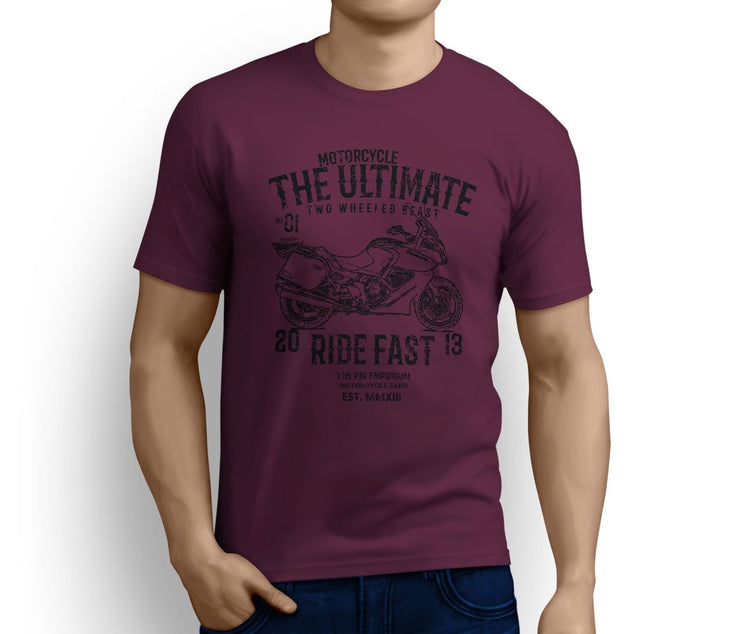 RH Ultimate Art Tee aimed at fans of Triumph Trophy SE Motorbike