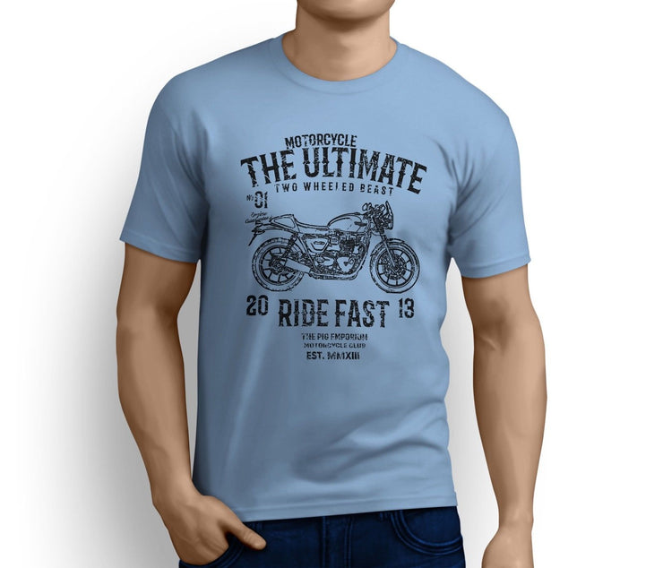 RH Ultimate Art Tee aimed at fans of Triumph Street Cup Motorbike